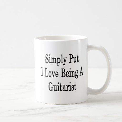 Amor simplemente puesto de I que es un guitarrista Taza De Café