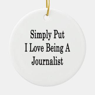 Amor simplemente puesto de I que es un periodista Ornatos
