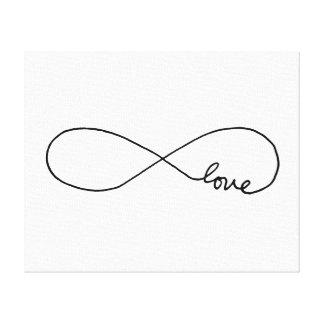 Amor sin fin impresión en tela