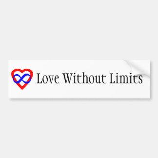 Amor sin límites pegatina para auto