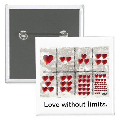 Amor sin límites pin cuadrada 5 cm