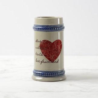 Amor sin verdad jarra de cerveza