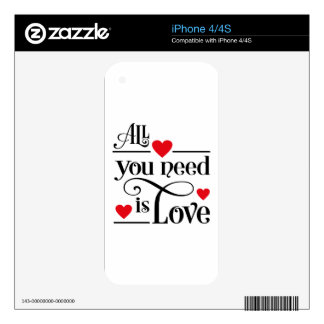 amor skin para el iPhone 4