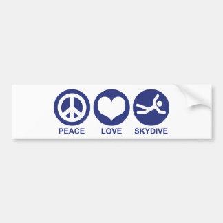 Amor Skydive de la paz Pegatina Para Auto