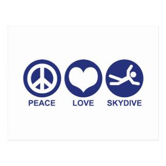 Amor Skydive de la paz Postal