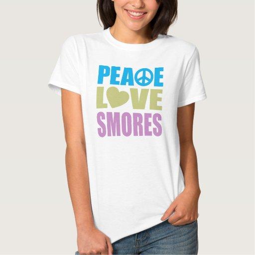 Amor Smores de la paz Camisas