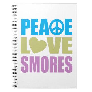 Amor Smores de la paz Libretas