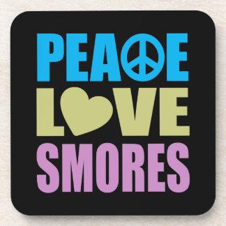 Amor Smores de la paz Posavasos