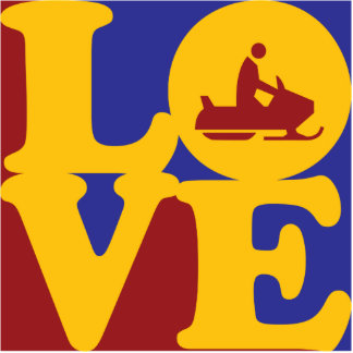 Amor Snowmobiling Escultura Fotografica