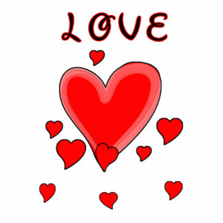 Amor sobre corazones llavero fotográfico