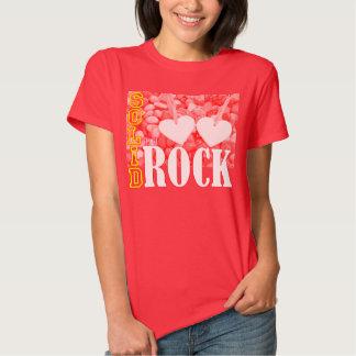 Amor: Sólido como camiseta del diseño de la roca Playera