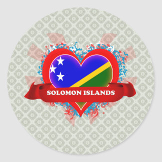 Amor Solomon Island del vintage I Pegatina Redonda