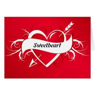 Amor soy el suyo tarjeta de las tarjetas del día d
