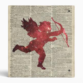 Amor Space Stencil Illustraion Over Old Book Page Vinyl Binder
