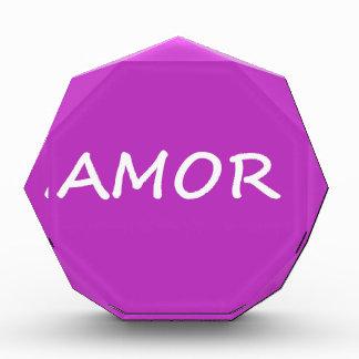 Amor, Spanish Love Acrylic Award