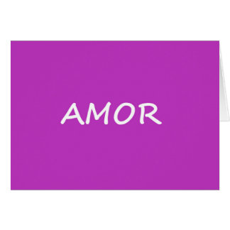 Amor, Spanish Love Card