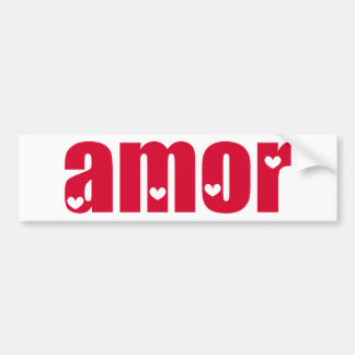 Amor! Spanish Love design! Bumper Sticker