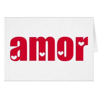 Amor! Spanish Love design! Card