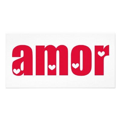 amor spanish love design photo card from zazzle love in spanish 400x400