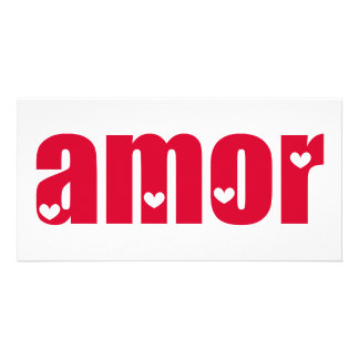 Amor! Spanish Love design! Photo Card