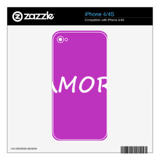 Amor, Spanish Love iPhone 4 Skins