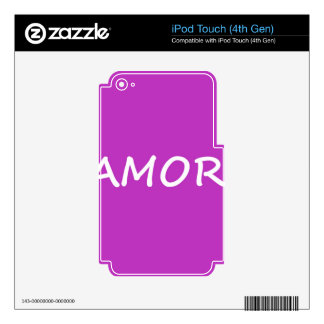 Amor, Spanish Love iPod Touch 4G Skins