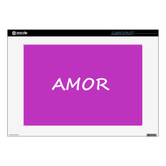 Amor, Spanish Love Laptop Decals