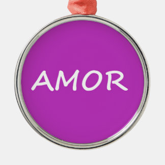 Amor, Spanish Love Metal Ornament