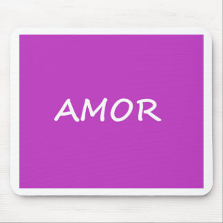 Amor, Spanish Love Mouse Pad