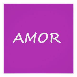 Amor, Spanish Love Poster