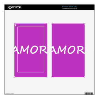 Amor, Spanish Love Skin For Kindle Fire