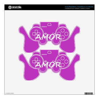 Amor, Spanish Love Skin For PS3 Controller