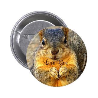 Amor Squirrel_ Pin Redondo De 2 Pulgadas