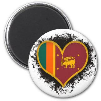 Amor Sri Lanka del vintage I Imán Redondo 5 Cm
