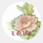 Amor Sticker-Cust. Etiqueta Redonda