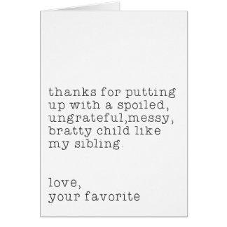Amor, su favorito tarjeta de felicitación