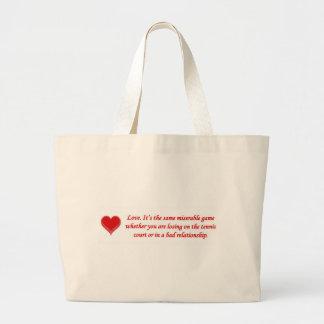 amor-su--mismo-desgraciado-juego-si-usted-sea bolsa tela grande
