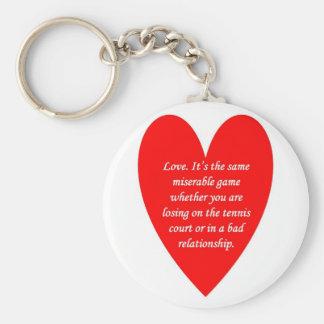 amor-su--mismo-desgraciado-juego-si-usted-sea llavero redondo tipo pin
