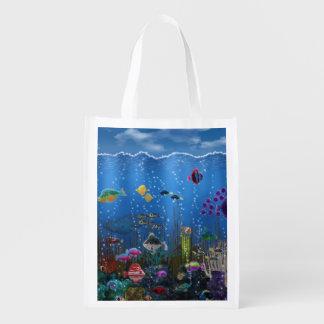 Amor subacuático bolsas de la compra