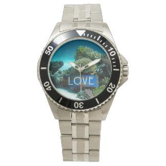 Amor subacuático clásico del acero inoxidable relojes de pulsera