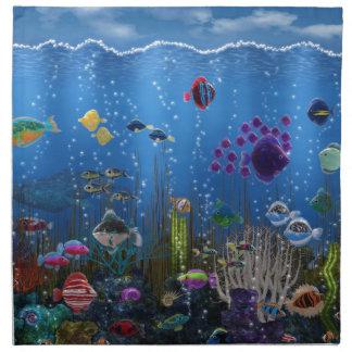 Amor subacuático - servilleta de papel