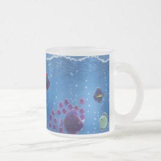 Amor subacuático - taza de café esmerilada