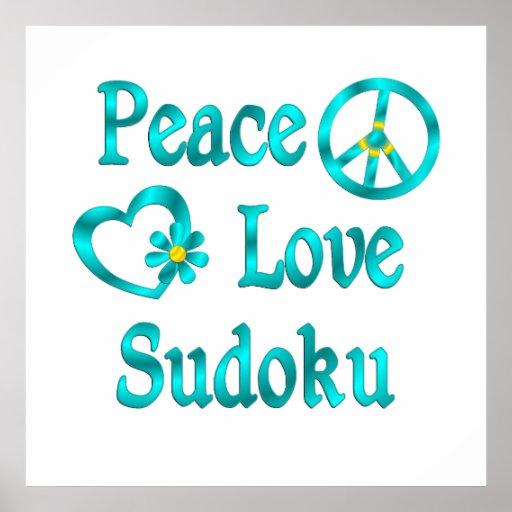 Amor Sudoku de la paz Póster
