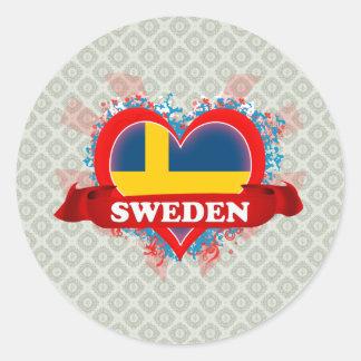 Amor Suecia del vintage I Pegatina