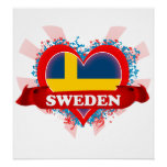 Amor Suecia del vintage I Poster
