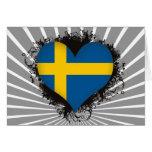 Amor Suecia del vintage I Tarjetas
