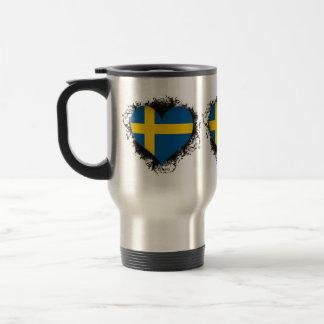 Amor Suecia del vintage I Taza De Viaje De Acero Inoxidable
