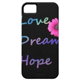 Amor, sueño, flor de la esperanza funda para iPhone SE/5/5s
