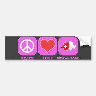 Amor Suiza de la paz Pegatina Para Auto