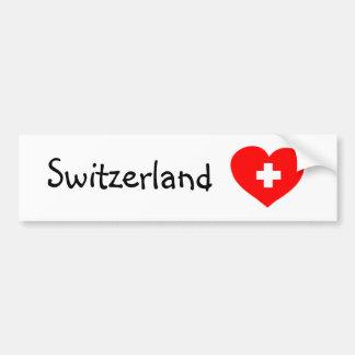 Amor Suiza - pegatina para el parachoques suiza de Etiqueta De Parachoque